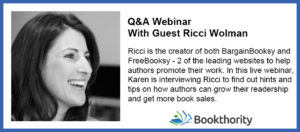 FreeBooksy BargainBooksy Book Promotion with Ricci Wolman