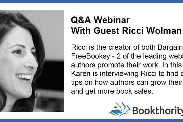 FreeBooksy BargainBooksy Book Promotion with Ricci Wolman
